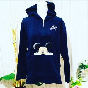 Disney Mickey Hooded Pullover Sweater Size XL